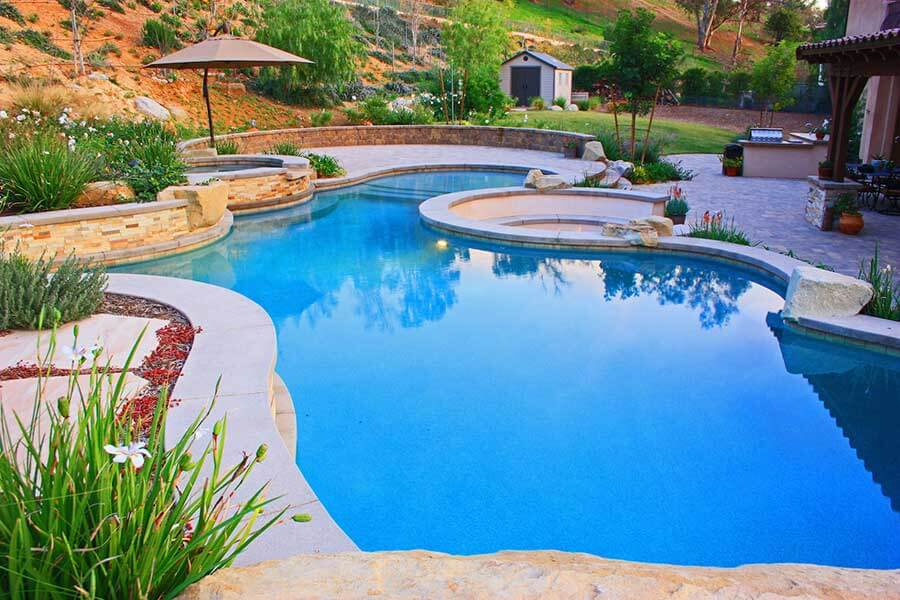 Pool Designed with Mountain