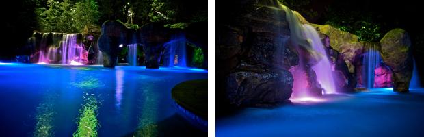 LED lit Swimming Pools