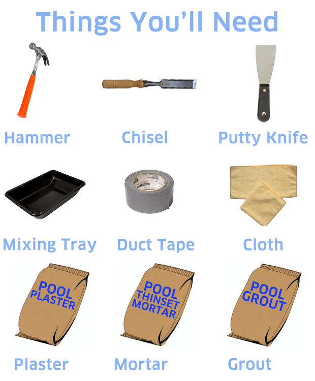 Pool Tile Replacement Tools