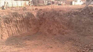 Swimming Pool Construction Excavation Site