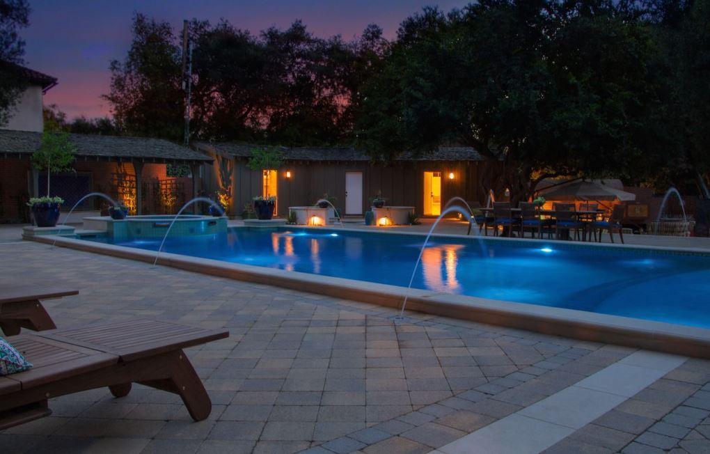 Southern California inground pool lighting